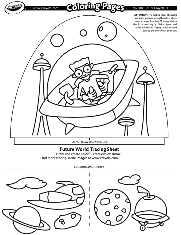 Future World coloring page