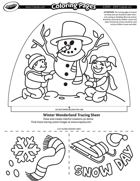 free coloring pages winter theme - photo#9