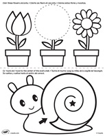 First Pages Flower And Snail