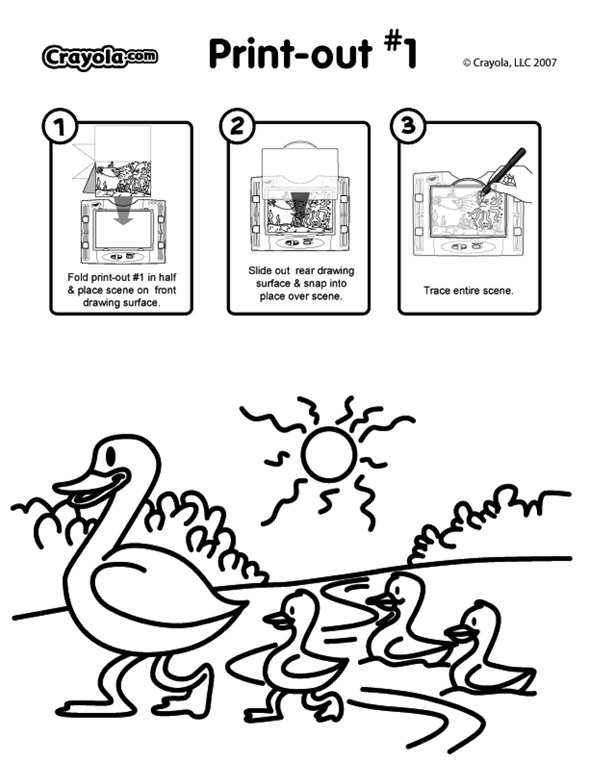 Ducks coloring page