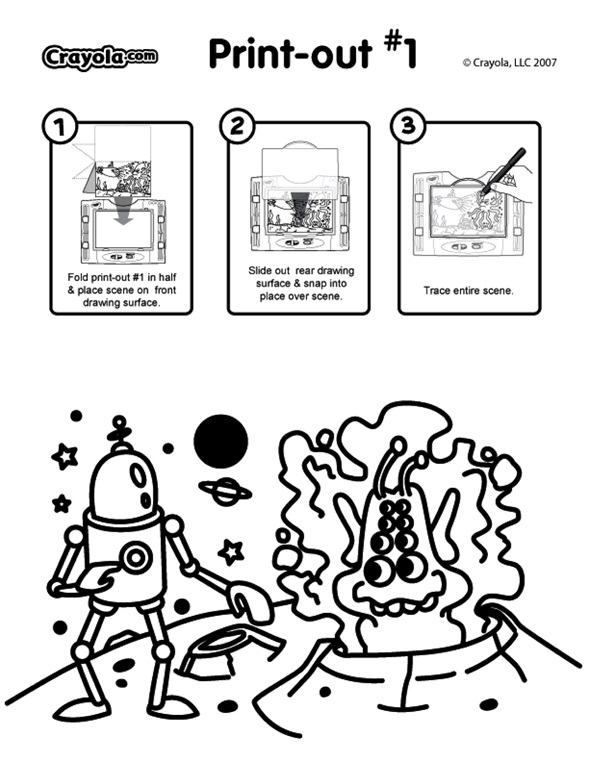 Alien Robot coloring page