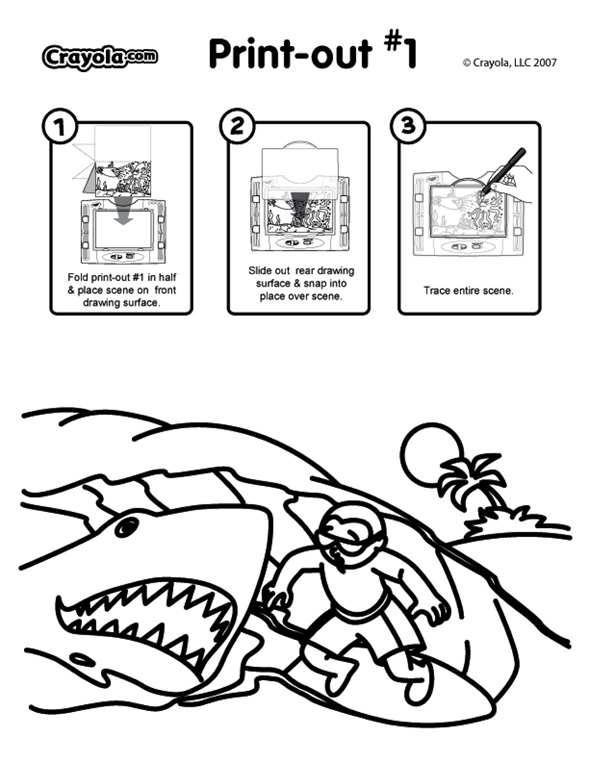 Surfing coloring page