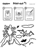 Volcanic Explosion coloring page