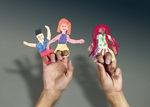 Walk-to-School Finger Puppets craft