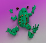 Frog 3-D Puzzle craft