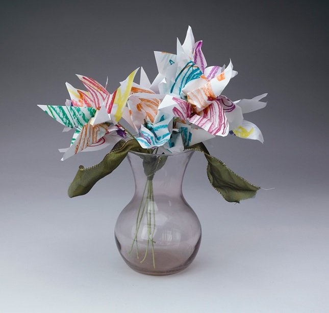 Accordion-Fold Flowers craft