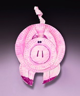 Perky Paper Plate Pig craft