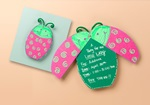 Ladybug Party Invitation craft