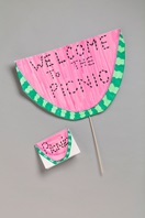 Watermelon Picnic Sign craft