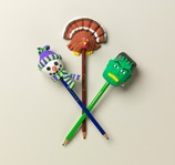 Winter Holiday Pencil Toppers lesson plan
