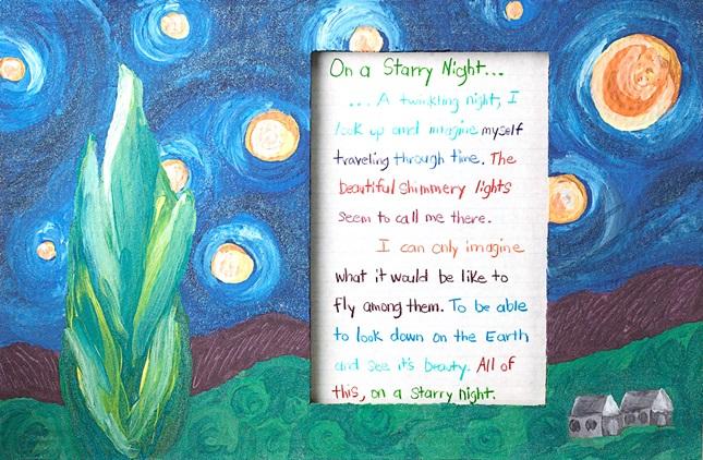 On a Starry Night Poetry Frame | crayola.com.au