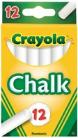 12 White Chalk Sticks
