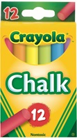 12 Colored Chalk Sticks