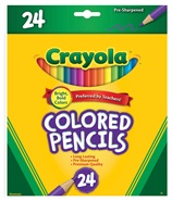 24 Full Size Colored Pencils