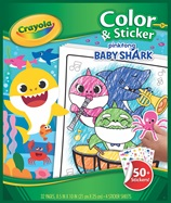 Color & Sticker Baby Shark