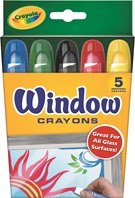 5 Washable Window Crayons