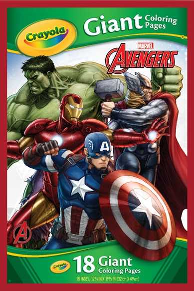 Giant Colouring Pages Marvel Avengers