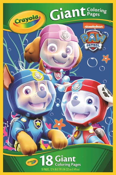 Giant Coloring Pages Paw Patrol Crayola Com Au
