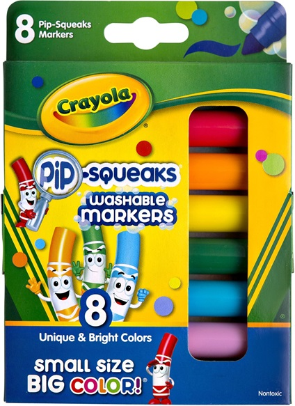 8 Washable Pip-Squeaks Markers