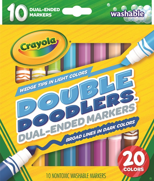 10 Double Doodlers Washable Dual Ended Markers
