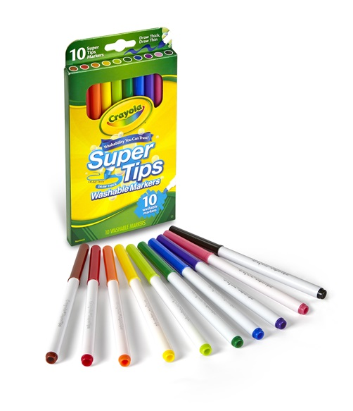 10 Washable Super Tips Markers