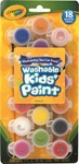 18 Washable Kids' Poster Paints with Brush