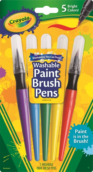 5 Paint Brush Pens Classic Colors