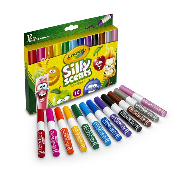 12 Silly Scents Scented Markers Open