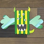 Popsicle Stick Monster