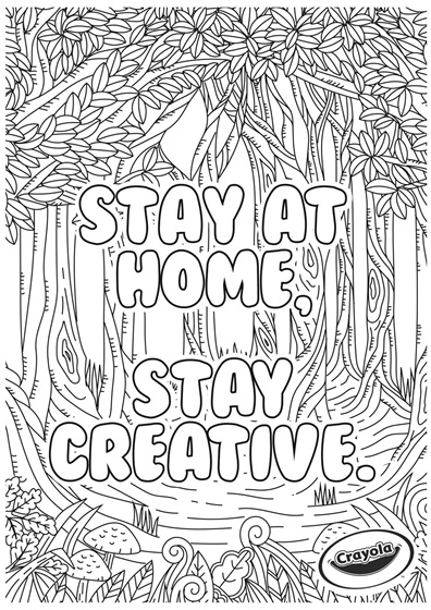 Stay at home creativity Forest