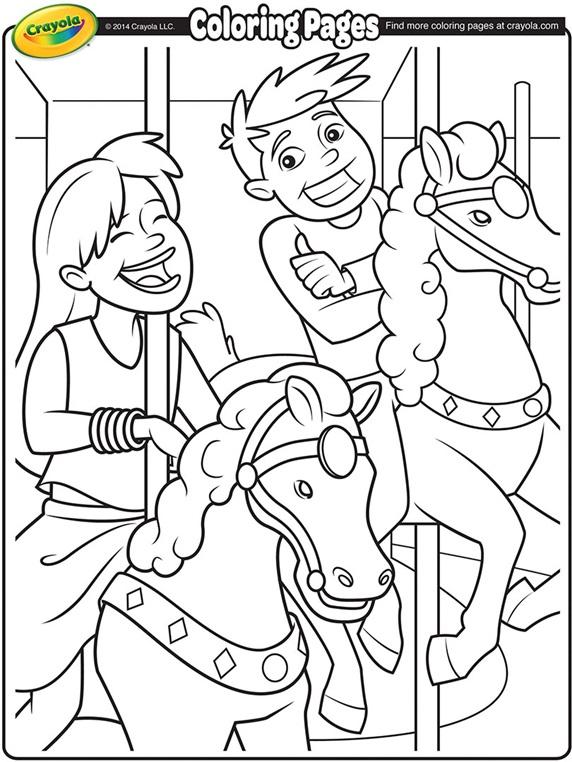 Carousel Horses crayolaau