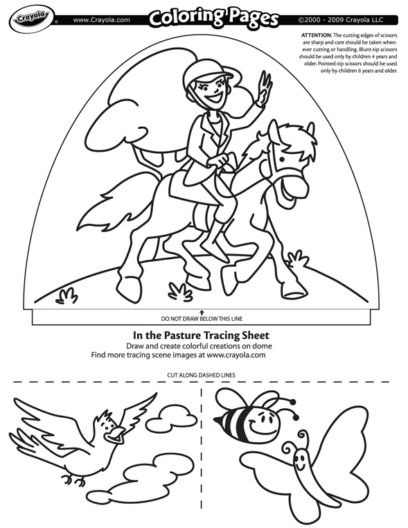 crayola photo to coloring page - in the pasture