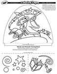 Wands and Wizards coloring page