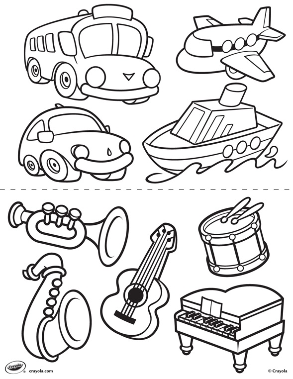 First Pages Transportation and Instruments crayolaau