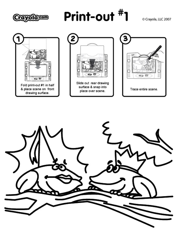 the frog prince coloring pages - photo#23