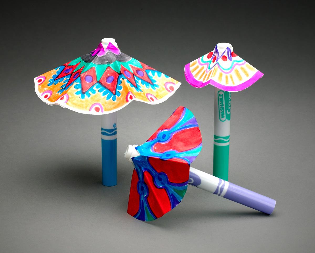 Зонтик из ниток своими руками