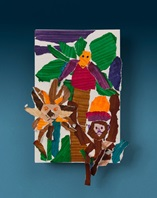Jumping Jungle Collage craft