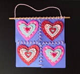 Hanging Hearts Cut-Paper Quilt craft