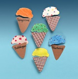 Ice Cream Cone Matching Game craft