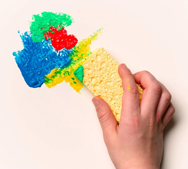 ... make sponge prints, and clean up art projects. Squeeze a sponge today
