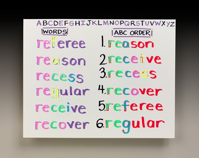 All Aligned In Alphabetical Order Lesson Plan