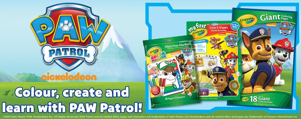 paw patrol tout - Crayola Pictures