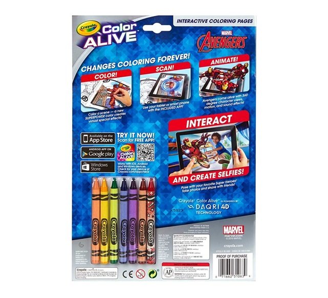 color alive marvel avengers