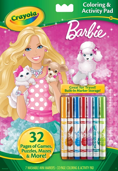 Coloring and Activity Pad with Markers Barbie | crayola.com.au