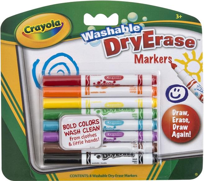 Crayola Dry Erase Markers Black 8 Washable Dry Erase Markers