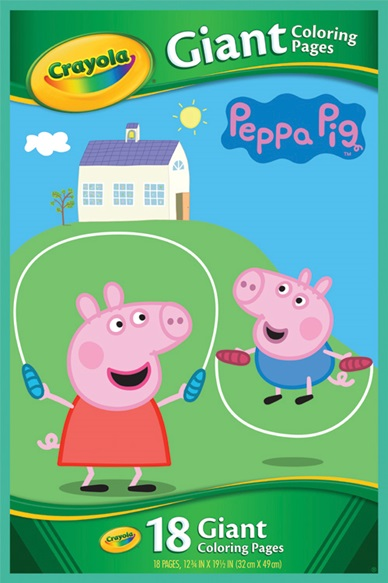 about giant coloring pages peppa pig