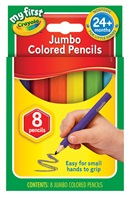 My First 8 Half Size Hexagonal Jumbo Colored Pencils