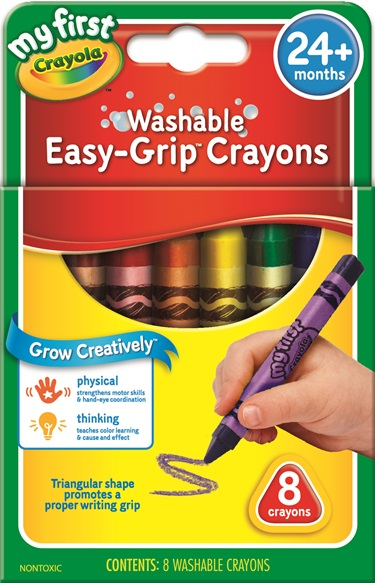 8 My First Washable Easy Grip Triangular Crayons Crayola