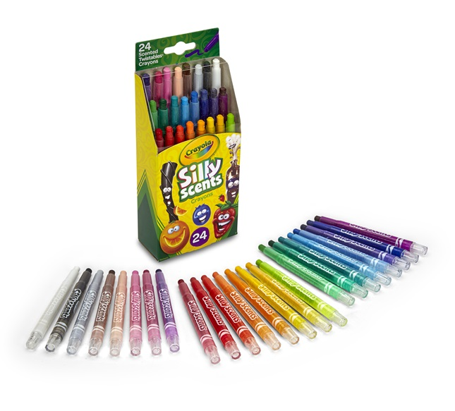 24 Silly Scents Twistables Crayons Open