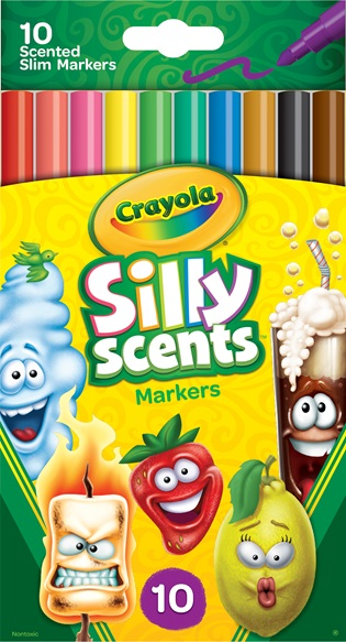 10 Silly Scents Slim Washable Markers